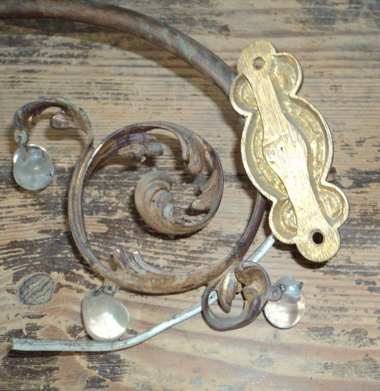 2 antike wandlampen jugendstil historismus zur restauration sehr sch n ebay. Black Bedroom Furniture Sets. Home Design Ideas