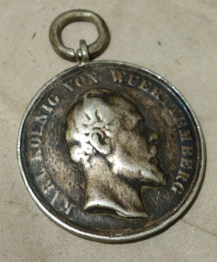 Alter Schützenorden König Karl Württemberg Medaillen Münzen