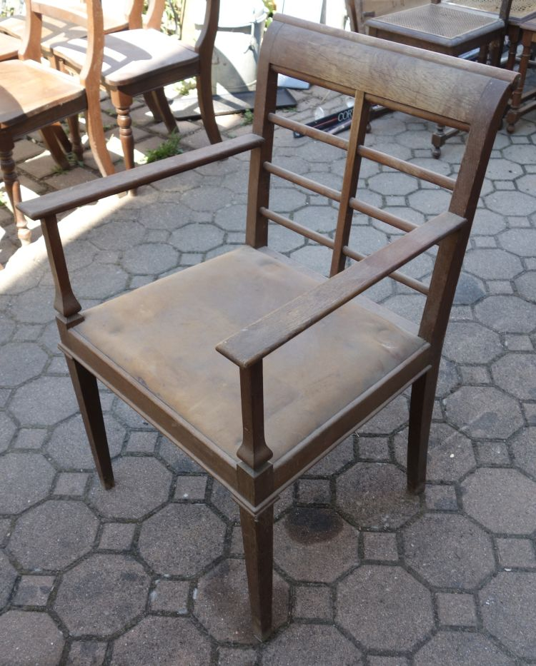 Antiker stuhl armlehnenstuhl jugendstil ebay for Gebrauchter schaukelstuhl